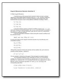 Angular Momentum Operator Identities G by