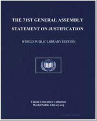 The 71St General Assembly Statement on J... by Fesko, Dr. John V.