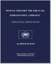 Gregory the Great II : Ephraim Syrus, Ap... by Schaff, Philip