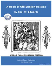 A Book of Old English Ballads by Edwards, Geo. W.