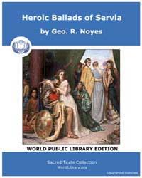 Heroic Ballads of Servia by Noyes, Geo. R.