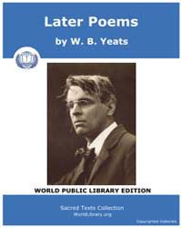 Later Poems by Yeats, W. B.