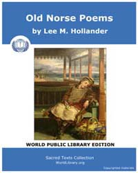 Old Norse Poems by Hollander, Lee M.