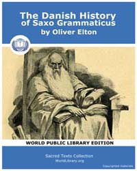 The Danish History of Saxo Grammaticus by Elton, Oliver