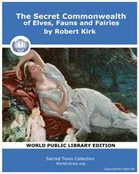 The Secret Commonwealth of Elves, Fauns ... by Kirk, Robert