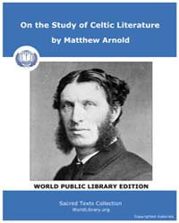 On the Study of Celtic Literature by Arnold, Matthew