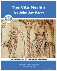 The Vita Merlini by Parry, John Jay