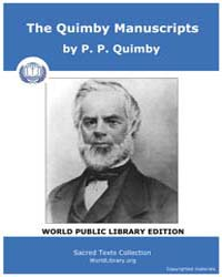 The Quimby Manuscripts by Quim, P. P.