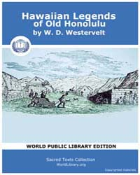 Hawaiian Legends of Old Honolulu by Westervelt, W. D.