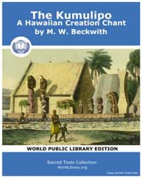 The Kumulipo, A Hawaiian Creation Chant by Beckwith, M. W.