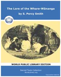 The Lore of the Whare-wananga by Smith, S. Percy