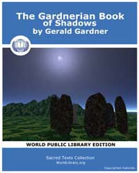 The Gardnerian Book of Shadows by Gardner, Gerald