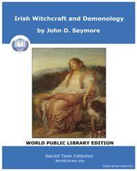 Irish Witchcraft and Demonology by Seymore, John D.