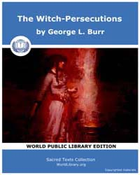 The Witch-Persecutions by Burr, George L.