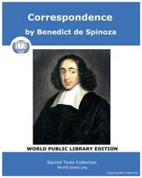 Correspondence by Spinoza, Benedict de