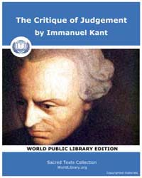 The Critique of Judgement by Kant, Immanuel