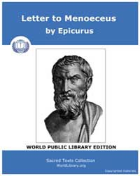 Letter to Menoeceus by Epicurus