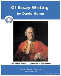 Of Essay Writing by Hume, David