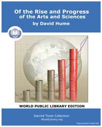 Of the Rise and Progress of the Arts and... by Hume, David