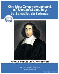 On the Improvement of Understanding by Spinoza, Benedict de