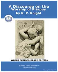 A Discourse on the Worship of Priapus by Knight, R. P.