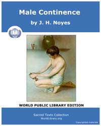 Male Continence by Noyes, J. H.