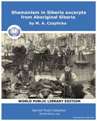 Shamanism in Siberia excerpts from Abori... by Czaplicka, M. A.