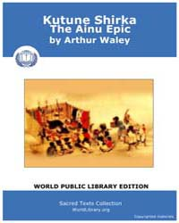 Kutune Shirka, The Ainu Epic by Waley, Arthur