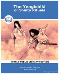 The Yengishiki, or Shinto Rituals by