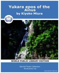 Yukara epos of the Ainus by Miura, Kiyoko