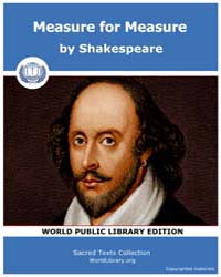 Measure for Measure by Shakespeare