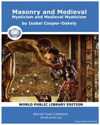 Masonry and Medieval Mysticism and Medie... by Cooper-Oakely, Isabel