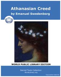 Athanasian Creed by Swedenborg, Emanuel