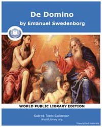 De Domino by Swedenborg, Emanuel