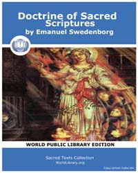Doctrine of Sacred Scriptures by Swedenborg, Emanuel