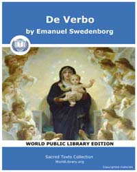 De Verbo by Swedenborg, Emanuel