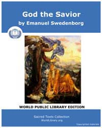 God the Savior by Swedenborg, Emanuel
