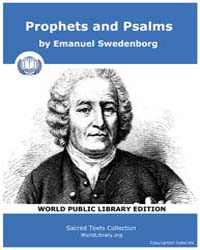 Prophets and Psalms by Swedenborg, Emanuel