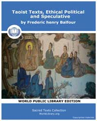 Taoist Texts, Ethical Political and Spec... by Balfour, Frederic Henry