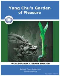 Yang Chu's Garden of Pleasure by