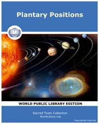 Plantary Positions by