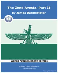 The Zend Avesta, Part II Volume Vol. 23 by Darmesteter, James