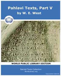 Pahlavi Texts, Part V Volume Vol. 47 by West, W. E.