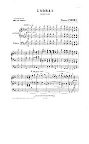 Choral (Offertoire) : Complete Score by Pierné, Gabriel