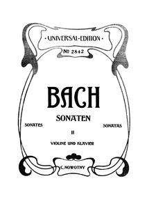 6 Violin Sonatas (6 Sonaten für Clavier ... Volume BWV 1014–1019 by Bach, Johann Sebastian