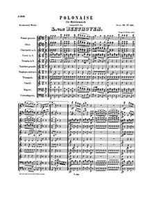 Polonaise for Wind Band in D major, WoO ... Volume WoO 21 by Beethoven, Ludwig van