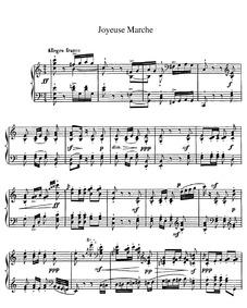 Joyeuse Marche : Piano score by Chabrier, Emmanuel