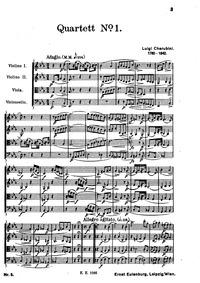 String Quartet No.1 : Complete score by Cherubini, Luigi