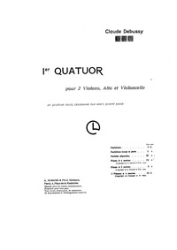 Quatuor à cordes (String Quartet in G-mi... Volume Op.10 ; CD 91 ; L. 85 by Debussy, Claude