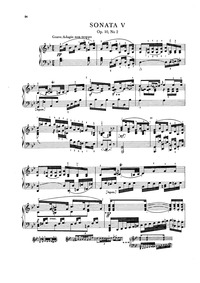 Piano Sonata No.5, Op.10 No.2 : Complete... Volume Op.10 No.2 by Dussek, Jan Ladislav